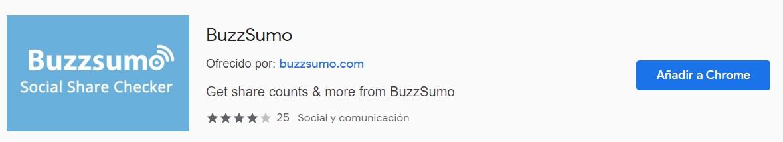 SEO Buzzsumo extensión